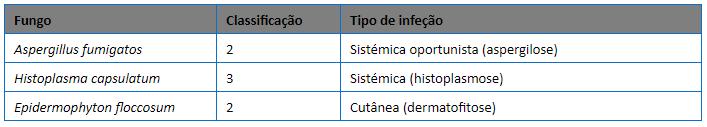 Fungos Classificação
